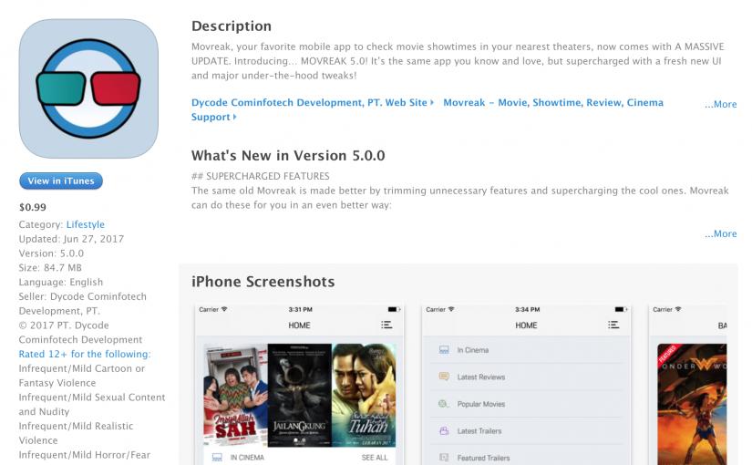 Movreak for iOS v5